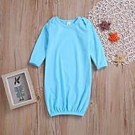 billige Undertøj og sokker til babyer-Baby Pige Ensfarvet Halvlange ærmer Nattøj