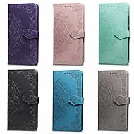 billiga Mobil cases & Skärmskydd-fodral Till Asus Zenfone 4 MAX ZC554KL / Zenfone 3 Max ZC520TL Plånbok / Korthållare / med stativ Fodral Mandala Hårt PU läder för Asus ZenFone Max ZC550KL / ASUS Zenfone 5Z (ZS620KL) / ASUS Zenfone