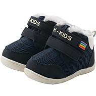 baratos Sapatos de Menino-Para Meninos / Para Meninas Sapatos Pêlo Sintético Inverno Primeiros Passos / Botas de Neve Botas para Bébé Azul Escuro / Amarelo / Vermelho