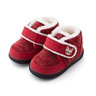 baratos Sapatos de Menino-Para Meninos / Para Meninas Sapatos Pêlo Sintético Inverno Conforto / Primeiros Passos Botas para Bébé Azul Escuro / Fúcsia / Vermelho / Botas Curtas / Ankle