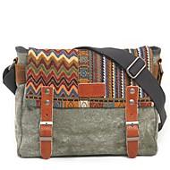 cheap Satchels-Men's Bags Canvas Satchel Buttons Coffee / Army Green / Khaki