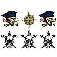 billiga Temporära tatueringar-10 pcs tillfälliga tatueringar Vattenavvisande / Högupplöst / Kreativ Kropp / händer / arm Vattenöverföringsklistermärke Tatueringsklistermärken