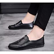baratos Sapatos Masculinos-Homens Sapatos Confortáveis Microfibra Verão Mocassins e Slip-Ons Branco / Preto / Vermelho