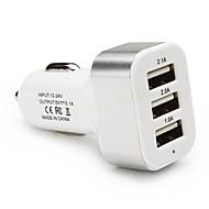 Billaddare USB-laddare Flera portar 3 USB-portar 2.1 A / 1 A DC 12V-24V för