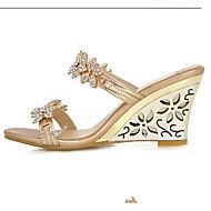 Per donna Scarpe comfort PU (Poliuretano) Estate Sandali Zeppa Oro / Argento