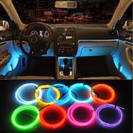 ziqiao 5m masina 12v condus lumini reci flexibile neon el sârmă lămpi auto pe masina frize lumina rece linia decoratiuni interioare benzi lămpi