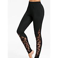 Mujer Diario Básico Legging - Un Color, Estampado Alta cintura