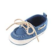baratos Sapatos de Menina-Para Meninos / Para Meninas Sapatos Jeans Primavera & Outono / Inverno Conforto / Primeiros Passos Botas Cadarço para Bebê Cinzento / Vermelho / Azul