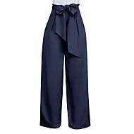 Pentru femei Mărime Plus Size Picior Larg Pantaloni - Mată Roșu Vin / Ieșire
