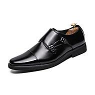 baratos Sapatos Masculinos-Homens Sapatos formais Couro Sintético Outono Casual Mocassins e Slip-Ons Preto / Marron / Casamento / Festas & Noite