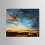 billiga Landskapsmålningar-Hang målad oljemålning HANDMÅLAD - Abstrakt / Landskap Moderna Inkludera innerram / Sträckt kanfas