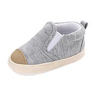 baratos Sapatos de Menina-Para Meninos / Para Meninas Sapatos Lona Primavera & Outono / Inverno Conforto / Primeiros Passos Botas Elástico para Bebê Cinzento / Azul / Listrado