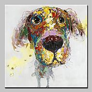 billiga Abstrakta målningar-Hang målad oljemålning HANDMÅLAD - Abstrakt / Popkonst Moderna Inkludera innerram / Sträckt kanfas