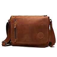 cheap Satchels-Men's Bags Canvas Satchel Solid Color Brown