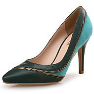 baratos Sapatos Femininos-Mulheres Stiletto Sintéticos Outono & inverno Saltos Salto Agulha Dedo Apontado Verde Escuro / Festas & Noite