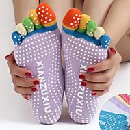 Kadın's Kaydırmaz Yoga Çorapları Beş Ayak Çorap Anti-kayma Pochłanianie potu Kaymaz Uyumluluk Pilates Bikram Tutunma Çubuğu