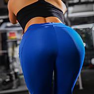 Damen Yoga-Hose Rot Blau Grau Sport Druck Hohe Hüfthöhe Leggins Zumba Fitness Sportkleidung Kolbenheber Tummy Control Power Flex Dehnbar Schlank / Winter