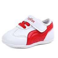 baratos Sapatos de Menina-Para Meninos / Para Meninas Sapatos Couro Ecológico Outono & inverno Conforto / Tênis com LED Tênis Velcro para Bébé Preto / Vermelho / Rosa claro