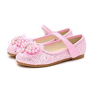 baratos Sapatos de Menino-Para Meninos / Para Meninas Sapatos Couro Ecológico Primavera & Outono Sapatos para Daminhas de Honra Rasos Pérolas / Lantejoulas para Infantil / Bébé Branco / Azul / Rosa claro