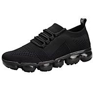 baratos Sapatos Masculinos-Homens Sapatos Confortáveis Tricô Primavera Esportivo / Casual Tênis Corrida Não escorregar Preto / Cinzento / Vermelho