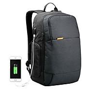 billige Computertasker-polyester Laptoptaske Lynlås Sort / Rød / Lysegrå