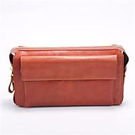 baratos Clutches & Bolsas de Noite-sacos de mulheres napa zíper de embreagem de couro marrom / marrom escuro