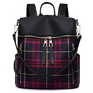 cheap School Bags-Women's Bags PU(Polyurethane) Backpack Zipper Geometric Pattern Blue / Red