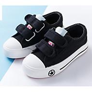 baratos Sapatos de Menino-Para Meninos / Para Meninas Sapatos Lona Primavera & Outono Conforto Tênis Velcro para Infantil Branco / Preto / Vermelho