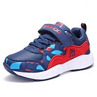 baratos Sapatos de Menino-Para Meninos Sapatos Sintéticos Primavera & Outono Conforto Tênis Caminhada Cadarço para Infantil / Adolescente Preto / Vermelho / Azul