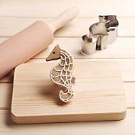 billige Bakeredskap-hippocampus sjøhest kaker kutter rustfritt stål kake mold kjøkken verktøy