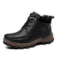 baratos Sapatos Masculinos-Homens Sapatos de couro Pele Napa Inverno Casual Botas Use prova Preto / Marron