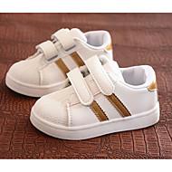 baratos Sapatos de Menina-Para Meninos / Para Meninas Sapatos Couro Ecológico Primavera Verão Conforto Tênis Velcro para Infantil / Bébé Vermelho / Azul / Rosa claro / Listrado