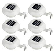 billige Utendørs Lampeskjermer-6pcs 2 W Led Street Light / Solar Wall Light Solar / Dekorativ / Lysstyring Varm hvit / Hvit 1.2 V Utendørsbelysning / Courtyard / Have 3 LED perler