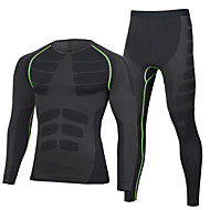 cheap -Nuckily Men's Cycling Base Layer - Black / Red / Black / Green / Blue+Yellow Bike Clothing Suit Thermal / Warm Winter Sports Polyester Spandex Solid Color Mountain Bike MTB Road Bike Cycling Clothing