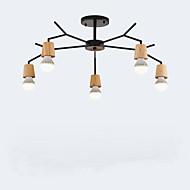 billige Takbelysning og vifter-QINGMING® 5-Light Lysekroner Nedlys Malte Finishes Tre Metall Mini Stil 110-120V / 220-240V