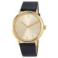 Damen Uhr Kleideruhr Japanisch Japanischer Quartz Gestepptes PU - Kunstleder Schwarz / Orange / Braun 30 m Wasserdicht Armbanduhren für den Alltag Analog damas Modisch Elegant Schwarz Orange Braun