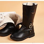 baratos Sapatos de Menina-Para Meninas Sapatos Couro Ecológico Inverno Botas da Moda Botas Presilha / Ziper para Infantil Preto / Marron