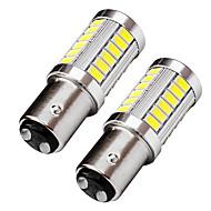 2PCS Top Lens Design BAY15D 1157 LED Brake Turn Signal Light 9W 720LM LED Stop Light White