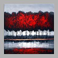 billiga Abstrakta målningar-Hang målad oljemålning HANDMÅLAD - Abstrakt / Blommig / Botanisk Klassisk / Moderna Duk