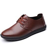 baratos Sapatos Masculinos-Homens Sapatos Confortáveis Couro Ecológico Inverno Oxfords Preto / Marron / Festas & Noite