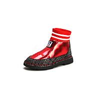 baratos Sapatos de Menino-Para Meninos / Para Meninas Sapatos Couro Ecológico Inverno Botas da Moda / Coturnos Botas para Infantil / Adolescente Preto / Vinho