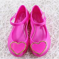 baratos Sapatos de Menina-Para Meninas Sapatos PVC Verão Conforto Rasos para Bébé Preto / Fúcsia / Azul