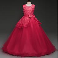 Παιδιά Κοριτσίστικα Βασικό Μονόχρωμο / Patchwork Κοντομάνικο Ρεϊγιόν / Πολυεστέρας Φόρεμα Φούξια