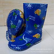 baratos Sapatos de Menina-Para Meninos / Para Meninas Sapatos PVC Primavera / Outono Conforto Botas para Infantil Vermelho / Azul Real