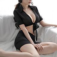 Mulheres Super Sexy Conjunto Roupa de Noite - Laço Sólido