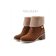 baratos Sapatos Femininos-Mulheres Cetim Outono Botas Salto de bloco Dedo Fechado Botas Cano Alto Cinzento / Amarelo / Azul