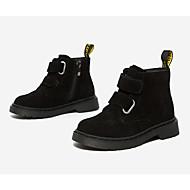baratos Sapatos de Menino-Para Meninos / Para Meninas Sapatos Camurça Inverno Coturnos Botas Ziper / Velcro para Infantil Preto / Marron
