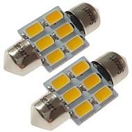 SENCART 2pcs 31mm 車載 電球 3 W SMD 5730 180 lm 6 LED インテリアライト / 外部照明 用途