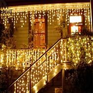 billige Innendørs LED-lys-julkrans ledd gardinisikringstreng lys 220v 4m 96leds innendørs dråpe ledet festhagefase utendørs dekorativt lys