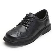 baratos Sapatos de Menina-Para Meninas Sapatos Pele Outono & inverno Conforto Oxfords Cadarço para Infantil / Adolescente Preto